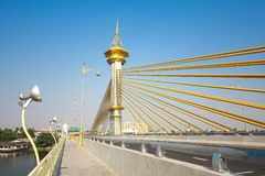 Maha Chesadabodindranusorn Bridge nonthaburi, thailand stock photography
