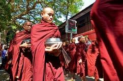 Maha Ganayon Kyaung Amarapura. Royaltyfria Foton