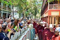 Maha Ganayon Kyaung, Amarapura. Stock Foto's