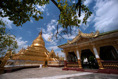 Maha Lokamarazein Kuthodaw Pagoda in Myanmar. Royalty Free Stock Images