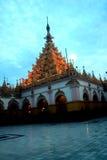 Maha Muni Pagoda στην πόλη του Mandalay, το Μιανμάρ Στοκ Φωτογραφία