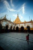 Maha Muni Pagoda in Mandalay city,Myanmar. Royalty Free Stock Photos