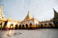 Maha Muni Pagoda in Mandalay city,Myanmar. Royalty Free Stock Images