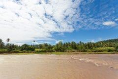 Maha Oya river, Sri Lanka, Asia. Maha Oya river, Pinnawala, Sri Lanka, Asia stock photos