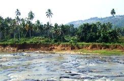 Maha Oya river. Wild Maha Oya river near Pinnawala Elephant Orphanage, Sri Lanka stock photography