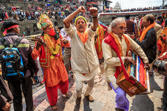 Maha Shivaratri festiwal, Pashupatinath świątynia, Ka Zdjęcia Stock