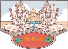 Maha Shivaratri and Taj Mahal Stock Images