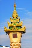Maha Theindawgyi Clock Tower, Yangon Myanmar imagens de stock