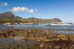 Maha'ulepu beach in Kauai Stock Photo
