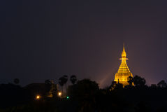 Maha Wizaya Pagoda Royaltyfri Fotografi
