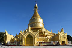 Maha Wizaya Pagoda en Rangún, Myanmar Imagen de archivo