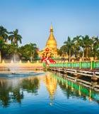 Maha Wizaya pagoda in Yangon. Myanmar. Royalty Free Stock Photos