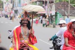 Mahabali en la procesión de la bici Imagen de archivo libre de regalías
