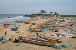 Mahabalipuram beach, india Royalty Free Stock Images