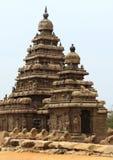 Mahabalipuram beach temple. Ancient monuments  -UNESCO World Heritage centre Stock Photography