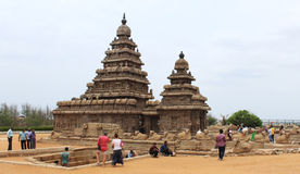 Mahabalipuram beach temple Royalty Free Stock Photo