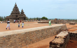 Mahabalipuram beach temple Royalty Free Stock Photography