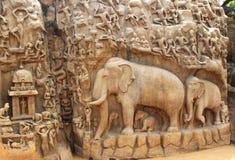 Mahabalipuram cave sculpture Stock Image