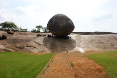 MAHABALIPURAM, de Boterbal van krishana Stock Foto's