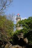 Mahabalipuram Lighthouse. Lighthouse atsmall historic town of Mahabalipuram, India Royalty Free Stock Image
