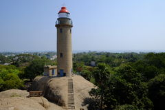 Mahabalipuram Lighthouse. Lighthouse at small historic town of Mahabalipuram, India Royalty Free Stock Photos