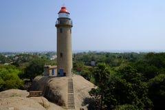 Mahabalipuram Lighthouse. Lighthouse at small historic town of Mahabalipuram, India Stock Image