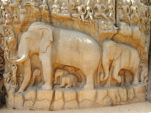 Mahabalipuram sculpture Royalty Free Stock Images