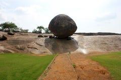 MAHABALIPURAM, sfera del burro dei krishana Fotografie Stock