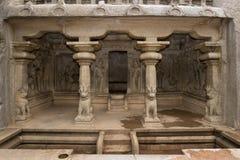 Mahabalipuram - Tamil Nadu - India. Krishna Mandapa Hindu Cave Temple in Mahabalipuram in the Tamil Nadu region of southern India Royalty Free Stock Photography