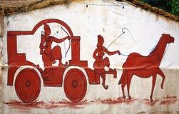 Mahabharata painting Stock Image