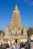 Mahabodhi寺庙, bodh gaya,印度 免版税库存图片