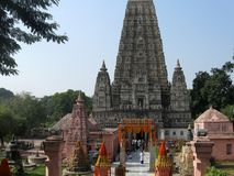 Great Buddha Mahabodhi Mahavihara Temple World Heritage Property royalty free stock image
