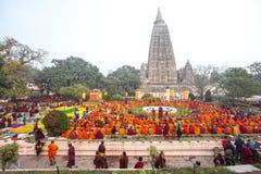 Mahabodhi tempel Royaltyfri Foto