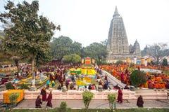 Mahabodhi tempel Arkivbilder