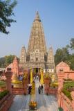 Mahabodhi-Tempel, bodh gaya, Indien Der Standort wo Gautam Buddha lizenzfreie stockfotos