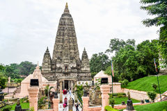 Mahabodhi tempel i Bodh Gaya, det heliga stället av Buddha insikt fotografering för bildbyråer
