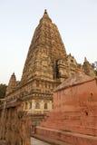 Mahabodhi temple. The Mahabodhi temple in Bodhgaya in Bihar, India Stock Photography