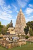 Mahabodhi temple. In Bodhgaya in Bihar in India Royalty Free Stock Photo