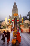 Mahabodhi Temple in Bodh Gaya, Bihar, India Royalty Free Stock Image