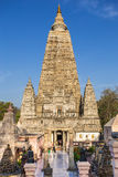Mahabodhi temple, bodh gaya, India. Buddha attained enlightenment here stock photo
