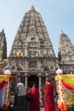 Mahabodhi temple, bodh gaya, India. Royalty Free Stock Image