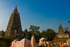 The Mahabodhi Temple of Bodh Gaya,India at Puja festival Stock Photos