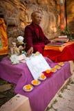 The Mahabodhi Temple of Bodh Gaya,India at Puja festival Royalty Free Stock Image