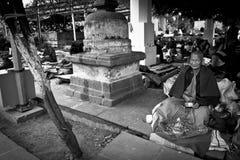 The Mahabodhi Temple of Bodh Gaya,India at Puja festival Stock Photos