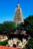 Mahabodhi temple, bodh gaya, India. The site where Gautam Buddha Royalty Free Stock Photography