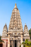 Mahabodhi Temple, Bodhgaya. Bodh Gaya is a religious site and place of pilgrimage associated with the Mahabodhi Temple Complex in Gaya district in the state of Stock Photography