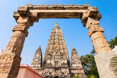 Mahabodhi Temple, Bodhgaya. Bodh Gaya is a religious site and place of pilgrimage associated with the Mahabodhi Temple Complex in Gaya district in the state of Stock Image