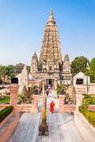 Mahabodhi Temple, Bodhgaya. Bodh Gaya is a religious site and place of pilgrimage associated with the Mahabodhi Temple Complex in Gaya district in the state of Royalty Free Stock Image