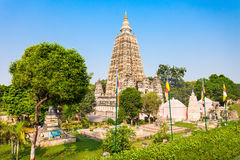 Mahabodhi Temple, Bodhgaya. Bodh Gaya is a religious site and place of pilgrimage associated with the Mahabodhi Temple in Gaya, India Stock Photo