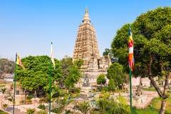 Mahabodhi Temple, Bodhgaya. Mahabodhi Temple Complex in Gaya district in the state of Bihar, India Stock Photo